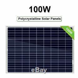 (4 X 100W=400W) 100 Watt 12 Volt Polycrystalline Solar Panel 100W 12V US