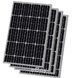 (4pcs) 100W Watts 100 Watt Solar Panels Mono German 12 Volt 12V RV Boat Off Grid