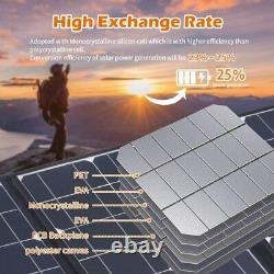 50W Portable Camping Solar Battery Charger 12 Volt Ultra Thin 10A PWM