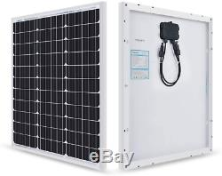 50 Watt 12 Volt Monocrystalline Solar Starter Kit with 10A LCD Charge Controller