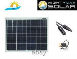 50 Watt 12 Volt Waterproof Polycrystalline Solar Panel Charger. Best Price