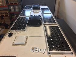 6- 200 Watt 12 Volt Battery Charger Solar Panel Off Grid RV Boat 1200 watt total