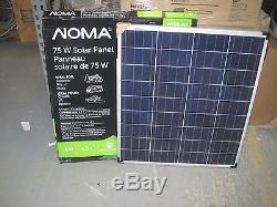 75 Watt 75W 12V 12 Volt Solar Panel Battery Charger RV Boat Camping Off Grid