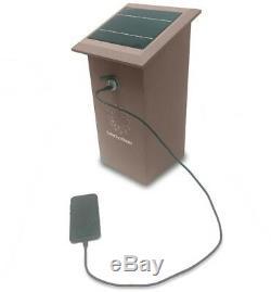 84-Watt 12-Volt Solar Powered USB Charging Station Generator Weatherproof Brown