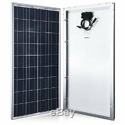 ACOPOWER 100 Watts 100w Poly Solar Panel with PV Connectors for 12 Volt Battery