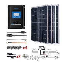 ACOPOWER 400Watts 4PCS 100W 12 Volts Poly Panel Solar RV Kits