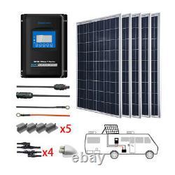 ACOPOWER 500 Watts 5PCS 100W 12 Volts Poly Panel Solar RV Kits