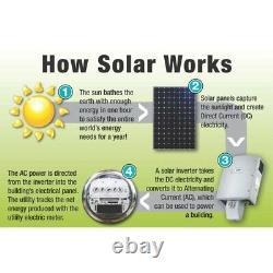 ALEKO 30W Monocrystalline Solar Panel 24 Volt Output