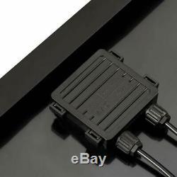 All Black 100 Watt 12 Volt Monocrystalline Solar Panel