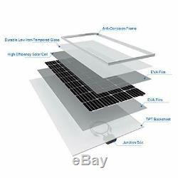 BougeRV 170 Watts Solar Panel 12 Volts Monocrystalline Solar Cell Charger Hig