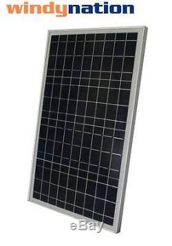 COMPLETE KIT 30 W Watt 30W Solar Panel 12V Volt Battery RV Gate Boat Off Grid