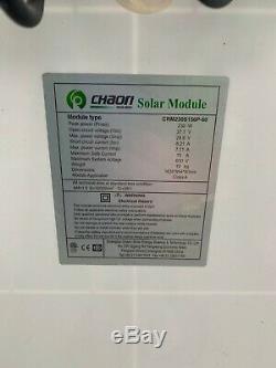 Chaori solar panel 230 watt, 24 volt 39 1/2 inches wide by 5 ft tall