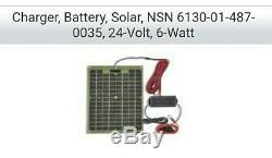 Charger, Battery, Solar, NSN 6130-01-487-0035, 24-Volt, 6-Watt