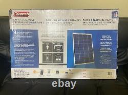 Coleman 100 Watt Charges 12 Volt Batteries Crystalline Solar Panel 100W 12V