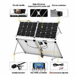 DOKIO 100 Watt 12 Volt Monocrystalline Foldable Portable Solar Suitcase with