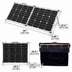 DOKIO 100 Watt 12 Volt Monocrystalline Foldable Portable Solar Suitcase with Wat