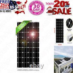 DOKIO 100 Watt 18 Volt Monocrystalline Solar Panel High Efficiency Module Durabl