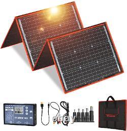DOKIO 160 watts 18 Volts Portable Solar Panel Kit Folding Solar Charge Include