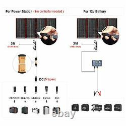 DOKIO 300 Watts 12 Volts Monocrystalline Foldable Solar Panel Inverter Charge
