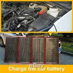 DOKIO 300 Watts 12 Volts Monocrystalline Foldable Solar Panel with Inverter Char