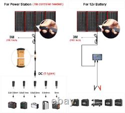 DOKIO 300 Watts 18 Volts Portable Foldable Solar Panel Monocrystalline with Char