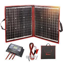 DOKIO 80 Watts 12 Volts Monocrystalline Foldable Solar Panel with Inverter