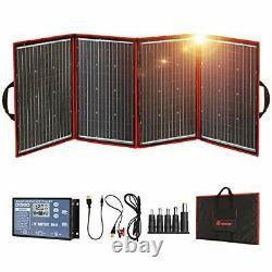 DOKIO Foldable Solar Panel 200 Watts 12 Volts Monocrystalline with Inverter