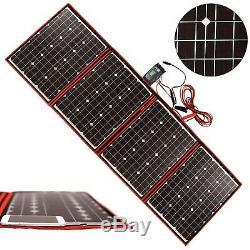 DOKIO Foldable Solar Panel 200 Watts 12 Volts Monocrystalline with Inverter C