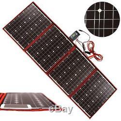 DOKIO Foldable Solar Panel 200 Watts 12 Volts Monocrystalline with Inverter Char
