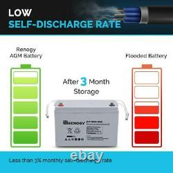 Deep Cycle AGM Battery 12Volt 100Ah for Solar Panel All Purpose Maintenance Free