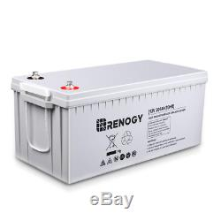 Deep Cycle AGM Battery 12-Volt 200Ah for Solar Panels Solar System