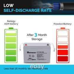 Deep Cycle Agm Battery 12-Volt 100Ah For Solar Panel