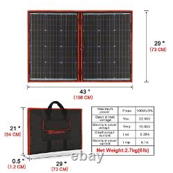 Dokio 100 Watts 12 Volts Monocrystalline Foldable Solar Panel With Charge Contro