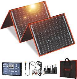 Dokio 160 Watts 18 Volts Portable Solar Panel Kit Folding Solar Charge Monocryst