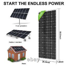 ECO 800W Watt 24 Volt Complete Ground Solar Panel Kit For Home Garden Farm