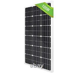 ECO-WORTHY 100W 12 Volt Solar Panel Monocrystalline 100 Watt Solar Module For