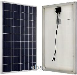 ECO-WORTHY 100W 12 Volt Solar Panel Polycrystalline 100 Watt Solar Module for