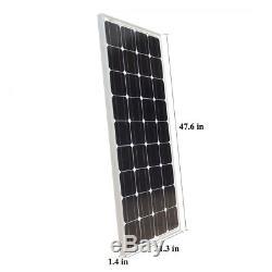 ECO-WORTHY 100W Watt Mono Solar Panel 12V Volt Off Grid Power Charge Slim Design