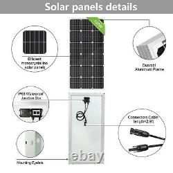ECO-WORTHY 100 Watts 12 Volts Monocrystalline Solar Panel for RV, Boat, Home