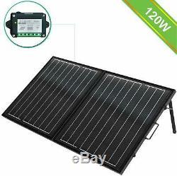 ECO-WORTHY 120 Watt 12Volt Off Grid Monocrystalline Portable Foldable Solar P