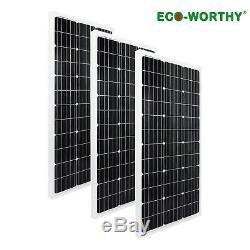 ECO-WORTHY 300 Watt(3100W) 12 Volt Mono Solar Panel battery For Farm RV Boat
