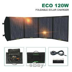 Eco 12Volt 120W Foldable Solar Panel Mono Battery Charger Ultra Light