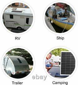 Eco 130w Watt 100w 12 Volt Mono Flexible Solar Panel For Rv W Free Ship