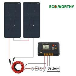 Eco-Worthy 200 Watt 12 Volt Flexible Monocrystalline Solar Panel Kit Ultra Light