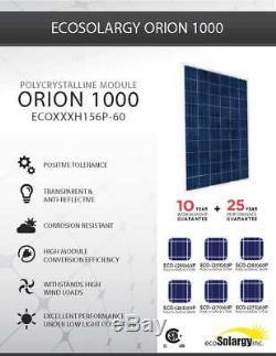 Ecosolargy 260 watt 24 volt solar panels new lot of 6 panels Tier one 1560watts