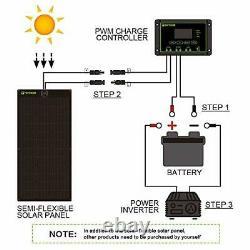 Flexible Solar Panel 100W 12V Monocrystalline Bendable 100 Watt 12Volt