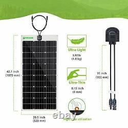 Flexible Solar Panel 12V Monocrystalline Bendable 100 Watt 12Volt 100W Whtie