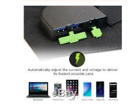 Folding Solar Panel 100W Watt 18V Volt Portable Camping Laptop I phone USB I Pad