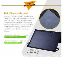 Folding Solar Panel 16W Watt 5V Volt Portable Camping Hiking Phone Travel USB
