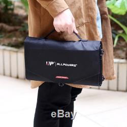 Folding Solar Panel 18V Volt 100W Watt Portable Camping Laptop I phone USB I Pad
